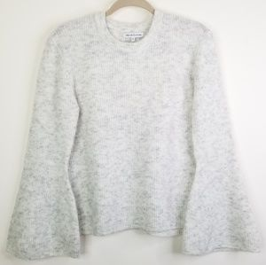 Heartloom gray bellsleeve sweater